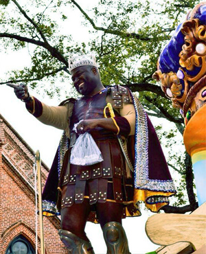 roman king mardi gras costume