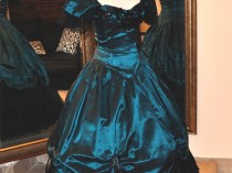 Peacock Blue Gown